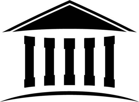 orden judicial: templo icono ilustración