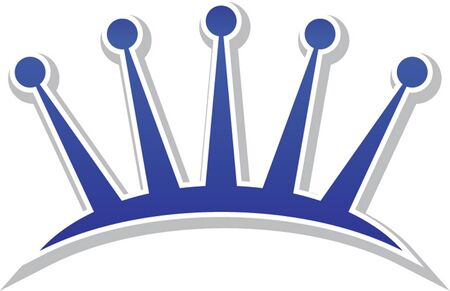 beauty queen: tiara icon isolated Illustration