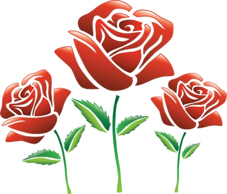 rose stem: red roses