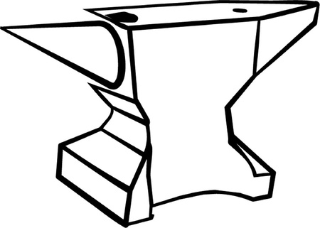 anvil: anvil outline isolated