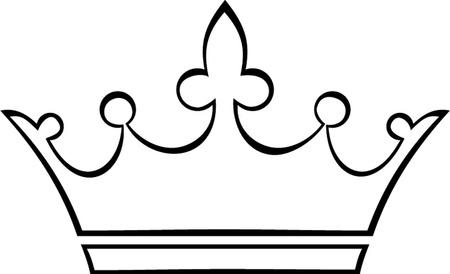 corona de princesa: contorno corona Vectores