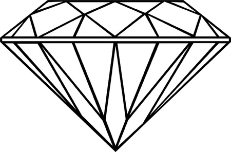 karat: diamond outline isolated