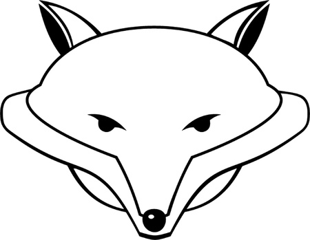 animal themes: fox outline