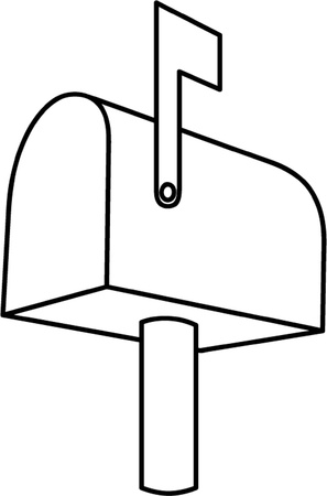 mail box: mailbox outline