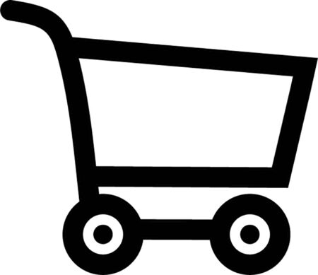 cart button: shoping cart outline Illustration