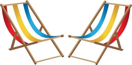 deck chair: Two Beach chairs