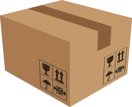 post box: cardboard box isolated illustration Illustration
