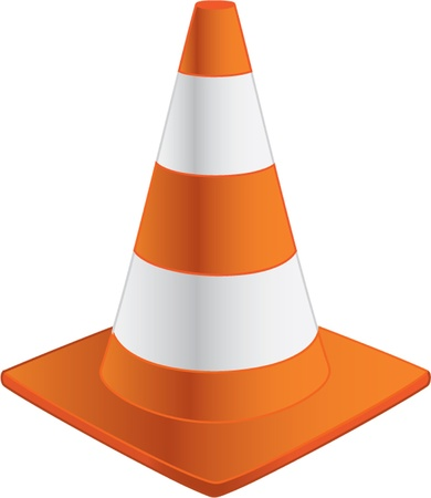 traffic cone: traffic cone isolated illustration