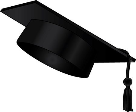 Graduation Cap isolated illustration