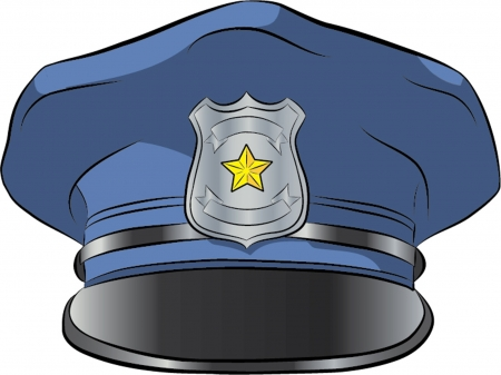 police hat isolated illustration Illustration