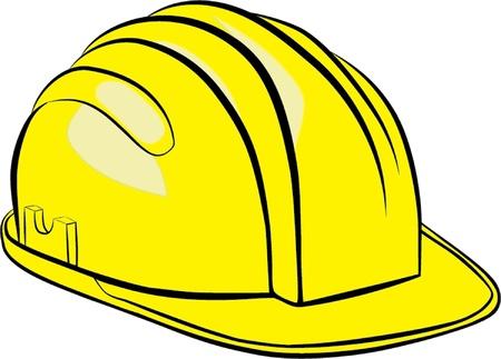 건설 헬멧 고립 된 그림 일러스트