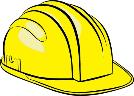 Construction Helmet isolated illustration