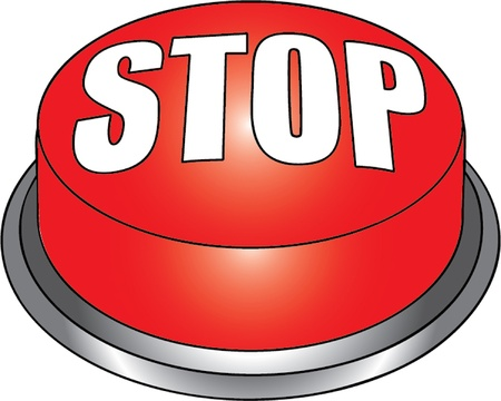stop sign isolated illustration Vector
