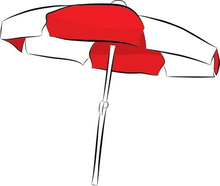 sunshade isolated illustration Vector