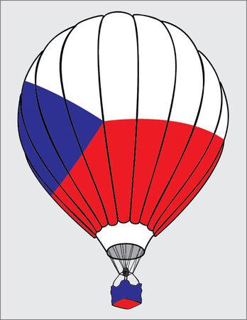 czech flag: pallone ad aria bandierina ceca