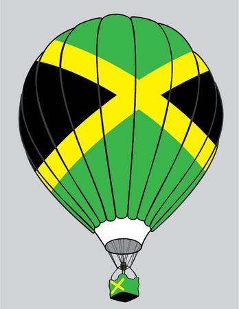 jamaican flag: air balloon Jamaican flag