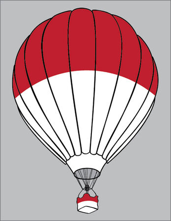 polish flag: air balloon polish flag