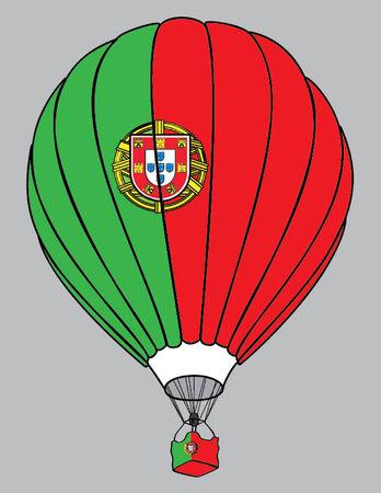 portuguese: air balloon Portuguese flag