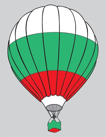 bulgaria: air balloon bulgarian flag Illustration
