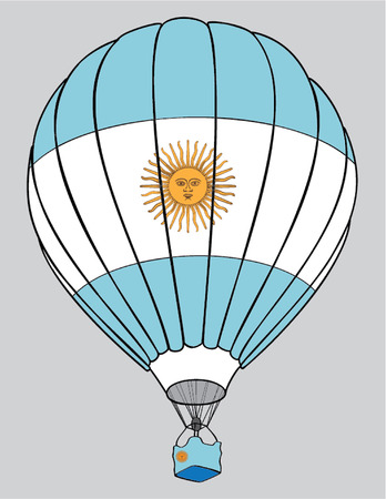 argentinean: air balloon Argentinean flag