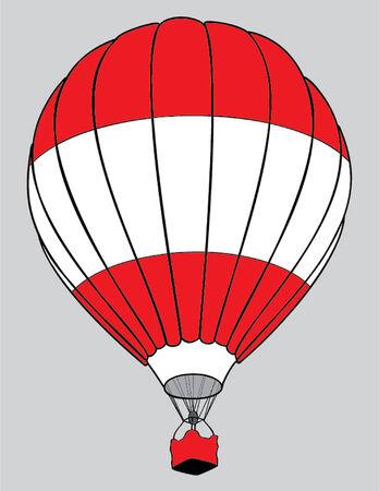 austrian flag: air balloon austrian flag