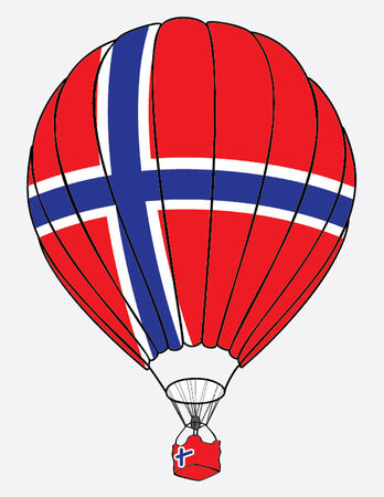 norwegian flag: air balloone norwegian flag