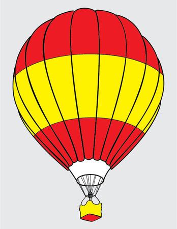 air balloone spanish flag