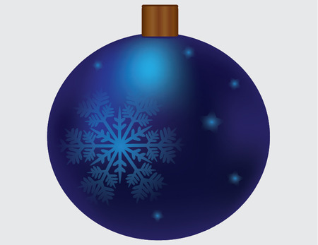 blue ornament with snowflake Vector