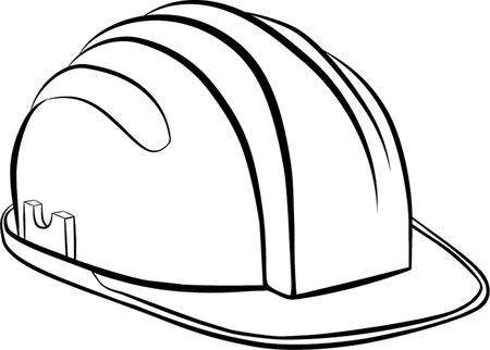 safety hat: constructions helmet Illustration