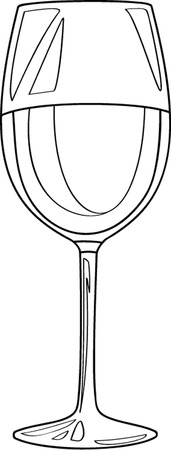 winetasting: glass of red wine outline