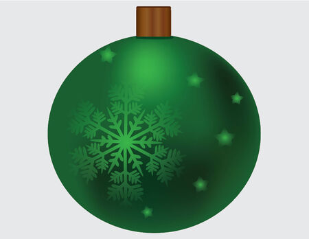 green ornament with snowflake Vector