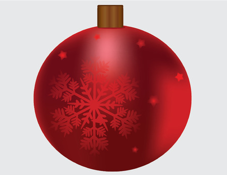 red ornament with snowflake Vector