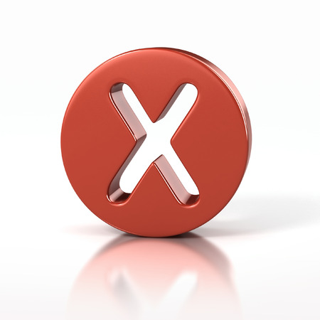 letter x: letter X inside red circle