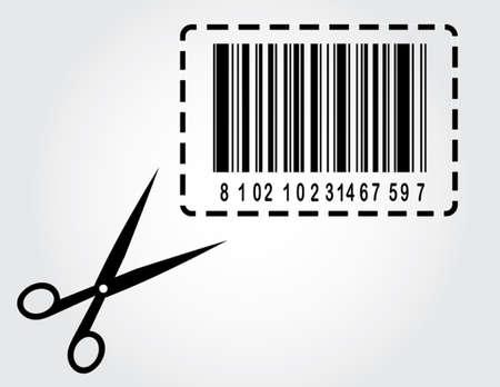 clip art cost: bar code with scissors
