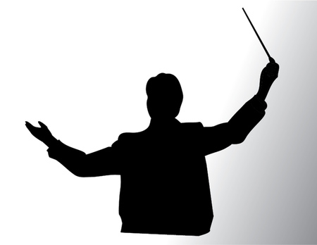 conductor isolated illustration Ilustracja