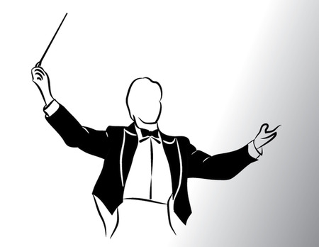 concerto: conductor isolated illustration Illustration