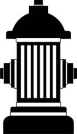 borne fontaine: contour bouche illustration isolé Illustration