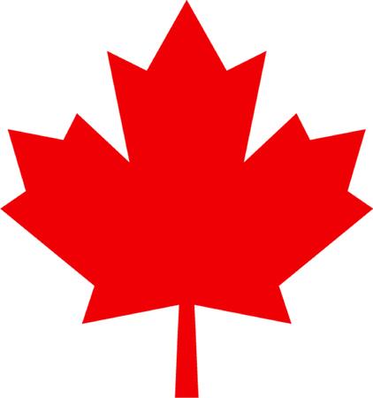 maple leaf geïsoleerde illustratie Stock Illustratie