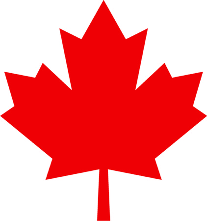 canadian flag: maple leaf isolated illustration