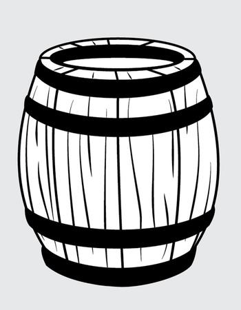 vat: barrel outline Illustration