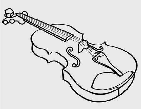 violin isolated outline