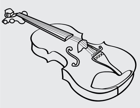 Violine isoliert Umriss