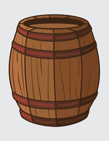 barrel isolated illustration Illustration