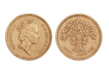 pi�ce de monnaie de la Grande-Bretagne Banque d'images - 8951156