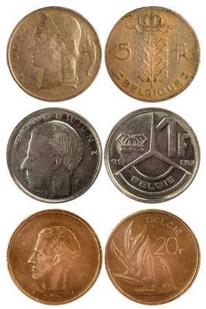 Alte Seltene Münzen Von Der Pute Auf Weißem Hintergrund Lizenzfreie