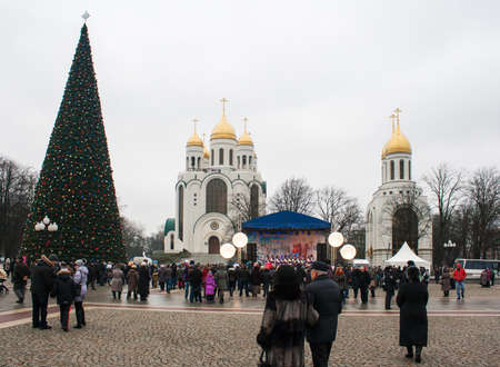 show in the town square during the celebration of the new year