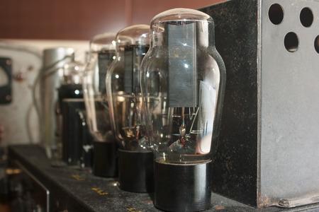amp: lamps in retro amplifier