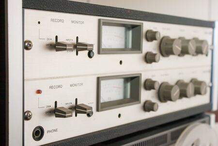 grabadora: panel de control de grabadora de carrete Foto de archivo
