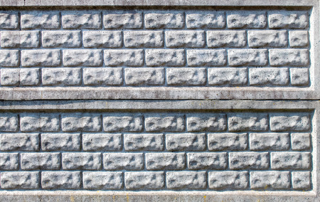concrete slab gray fence outdoor on sunny day closeup Stock Photo