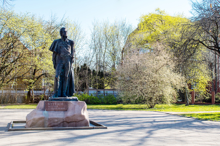 monument to michael kutuzov in kaliningrad russia outdoor on spring day